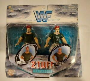 2 TUFF SERIES 1 TRUTH COMMISSION INTERROGATOR + REKON WWF WRESTLING FIGURE 2-PK