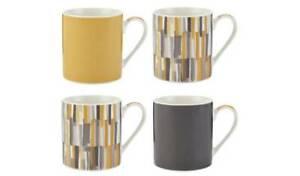 Sainsbury's Loft Living Mugs Set of 4 - 9cm tall-  NEW China BOXED