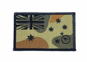 RAAF Ensign Patch on AUSCAM DPCU - Subdued - New