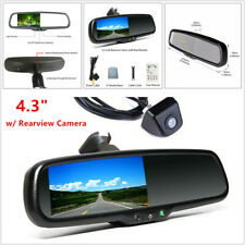"4.3"" Car Auto Dimming TFT LCD Rearview Mirror Monitor w/ Camera Night Vision Kit"