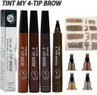 Microblading Tattoo Eyebrow Pencil Waterproof 4 Fork Tip Eye Brow Pen Enhancer