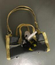 Bratz Barbie Doll Bumble Bee Handbag Purse Pet Carrier Rare Gray Yellow black
