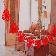 3m Heart Nonwovens Fabric Flag Party Garland Decor Banner Bunting Wedding HP