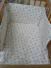 NUOVO Simar Set lettino piumone 3 pezzi bianco e rosa