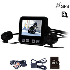 Mini Size Dual Lens HD 720P C6 Wired Remote Control Motorcycle DVR GPS Supported
