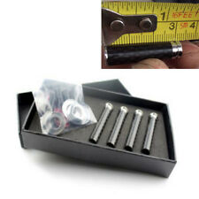 4pcs Real Carbon Fiber Copper Car Door Knob Pins Handles 1cmx3.2cm Universal New