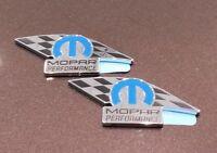 (2) Mopar Dodge Jeep Chrysler Performance Emblems 82214234 OEM