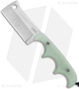 CRKT Folts Minimalist Blade HQ Exclusive - Natural Jade G10 - Stonewash D2 Steel