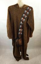 Star Wars Chewbacca Costume Mens Medium Union Suit Jumpsuit Hood New