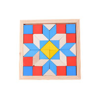 IQ Holzpuzzle Kinderspielzeug Geometrie Tangrams Logik Brain Training Spiele Gut