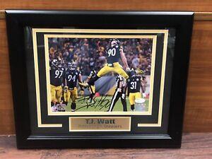 TJ WATT Autograph Signed & Framed Pittsburgh STEELERS 8x10 PHOTO - JSA