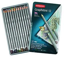 Derwent graphitint 12 TIN SET DI COLORATO Grafite idrosolubili MATITE COLORATE