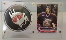 Niklas Kronwall Signed Hockey Puck & Prospects Card - Detroit Red Wings - Sweden