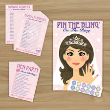 HEN NIGHT PARTY - 3 GAME PACK  - 10 PLAYER (Pin The Ring, Photo Challenge..)