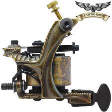 Custom Carved Brass Stick Tattoo Machine - Liner or Shader