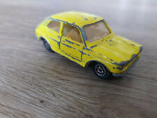 Majorette No. 203, Fiat 127, 1/55, made in France, gelb