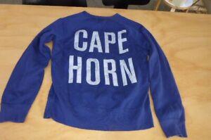 acne mens sz S loose blue sweatshirt top cape horn