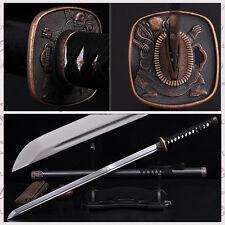 Full Tang Katana Japanese Samurai Sword Patter Steel Handmade Sharpened Blade