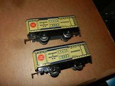 2 MARX #555  C&S Refrigerator Cars, 4 Wheel,  Original