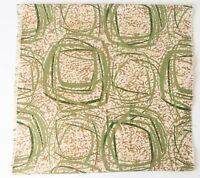 "Atomic Print Gold Metallic and Avocado MCM  Barkcloth Panel Cotton 24"" x 85"""
