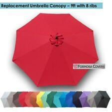 9ft Patio Garden Yard Market Replacement Umbrella Canopy Cover Top 8 Ribs Red