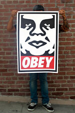 LITHOGRAPHIE SHEPARD FAIREY OBEY GIANT signée signé (invader, banksy, jonone)