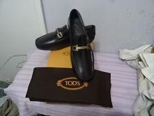 Tod'S Black leather loafers, brass-colored horsebit, leather Sz UK7.5/EU41.5