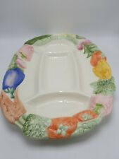 """Fitz and Floyd """"Vegetable Garden"""" 5 Part Sculpted Relish Dish"""