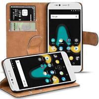Handy Hülle für Wiko UPulse Lite Case Schutz Tasche Cover Flip Bookcase Schwarz
