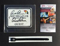 NEW Arnold Palmer SIGNED / AUTOGRAPHED Bay Hill Club Guest Bag Tag  JSA / COA
