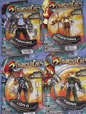 THUNDERCATS - 4 FIGURES : PANTHRO,CHEETARA,LION-O,TYGRA - BRAND NEW !!! Bandai