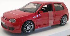 Maisto 1/24 Scale Model Car #31290 - 2002 Volkswagen Golf R32 - Red