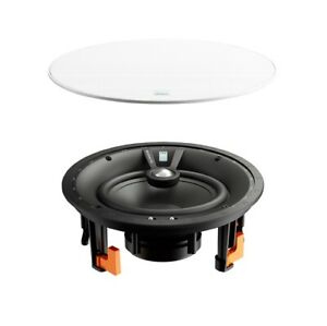"""DALI PHANTOM E-80 Pair of 8"""" In-Ceiling In-Wall Passive Wide Dispersion Speakers"""