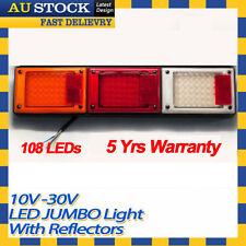 1 x 12v 24v LED Jumbo Tail Light Trailer Caravan Truck UTE Camper with Reflector