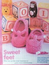 Knitting Pattern For Baby Girl Or Boy Cute Shoes Size 3/6months In DK