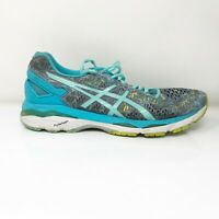 Asics Womens Gel Kayano 23 T6A5N Gray Blue Running Shoes Lace Up Low Top Size 11