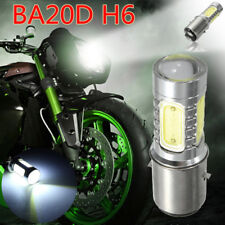 12V BA20D H16 4 COB LED Headlight Bulb White Light Fit Motorcycle Bike Moped ATV