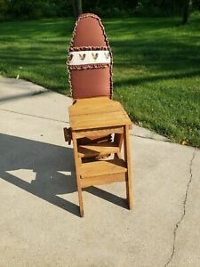 Vintage Thomas Jefferson Bachelor 3-in-1 Chair, Stool, Ironing Board. Local Pkup