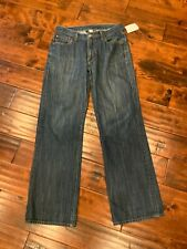 "Lucky Brand Men's Blue ""Bruce Straight Leg"" Dark Wash Denim Jeans, Size 30"