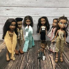 Lot of 7 Bratz Dolls Fully Dressed Mga Entertainment 2001 African American Doll