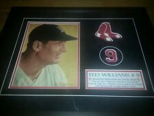SIGNED TED WILLIAMS PEN AUTOGRAPH RED SOX PSA DNA COA AUTO LETTER IN BLACK FRAME