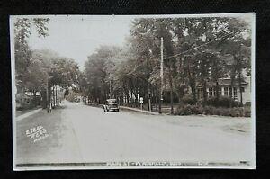 "1942 ""MAIN STREET"" PLAINFIELD WI WISCONSIN RPPC POSTCARD WAUSHARA COUNTY OASIS"