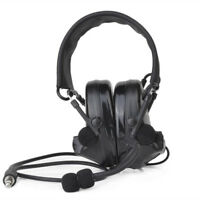 Z-Tactical Airsoft Comtac 2 Way Radio Headset Active Sound Protection Z041 BLACK