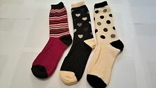 3 Pairs Of Ladies  Wool Socks, Thick warm high Quality Work Boot Socks, 4-7