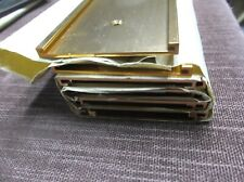 """Name Plate Holders Wall Bracket lot of 10 JRS36-8G gold size 2"""" x 8"""" x 1/16"""""""