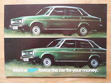 MORRIS MARINA 2 RANGE orig 1980 UK Mkt Sales Brochure - BL 3399