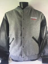 Steer Brand Four Stroke Stroker Jacket  Engine Racing Wool / Leather Men's XL