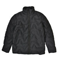 Elvine Mens Soft Warm Winter Jacket Relaxed Black Size L