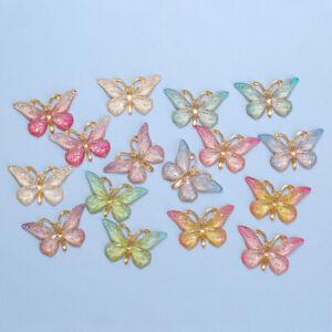 10Pc Kawaii butterfly Flat back plastic Cabochons Scrapbooking DIY Jewelry Craft