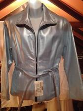 Genuine  Leather Powder Blue  Womens Jacket Size M  New with Tag
